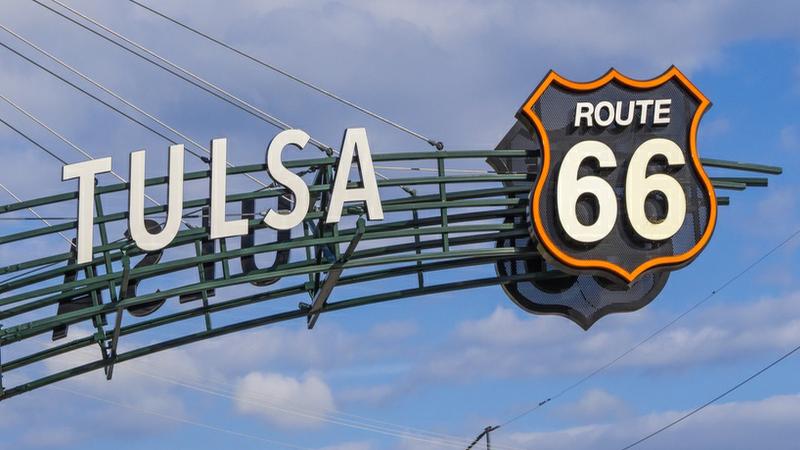 Tulsa OK Route 66 Sign