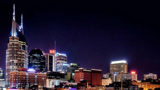 Nashville at night crop
